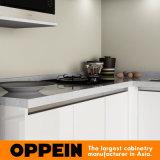 Oppein Белый Малые МДФ проекта кухонный шкаф (OP15-L01)
