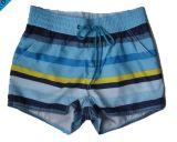 La spiaggia su ordinazione di stampa di sublimazione degli uomini mette gli Shorts in cortocircuito della scheda con il tessuto di stirata di 4 modi