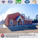 세계 급료 세륨 증명서 Prefabricated 강철 구조상 교회당