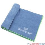 Вышитое полотенце йоги ткани Microfiber Терри горячее