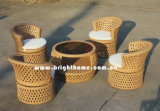 Elegante moderne Freizeit Patio Outdoor-Rattan-Möbel