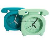 昇進の子供の袋の形の蛍光カラーロゴによって印刷されるシリコーン表の目覚し時計