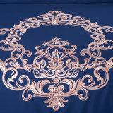 Dekking van het Dekbed van de Stijl van de Luxe van koningin King Satin Silk Cotton Borduurwerk de de Amerikaanse en Reeks van het beddegoed van het Blad van het Bed