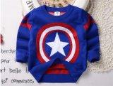 T1208 Nueva llegada Wholesale primavera otoño Baby Boy Camiseta niños tejidos de algodón espesar Cartoon Jersey Ropa de niños Camiseta retroceder
