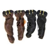 Cabelo de venda quente que tece o cabelo humano Curly peruano do Virgin