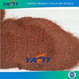 サンドブラストのWaterjet切断の赤いガーネット砂