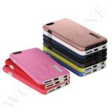 Caja vendedora caliente del teléfono móvil del lustre Oil+PC+TPU para el iPhone y los modelos de Samsung