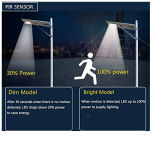 고품질 운동 측정기 통합 25W 한세트 태양 가로등