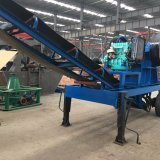Flexible Trituradora de ruedas popular Move Planta de trituración de mandíbula / Máquina de trituración de piedra móvil