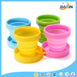 Candy Color Eco Friendly Coupe pliante en silicone de qualité alimentaire
