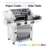 """1000 do cortador aritmético da estaca da tela toque das folhas 670mm 10 de """" máquina de papel programada hidráulica automática"""