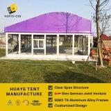 Шатер стеклянной стены Huaye с пурпуровой крышей для сбывания (hy331b)