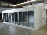 대형 슈퍼마켓을%s 4개의 유리 문 Back-Load 냉각장치