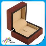 호화스러운 Handmade 주문 로고 자연적인 목제 두꺼운 MDF 나무로 되는 보석 수송용 포장 상자