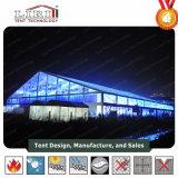 Водонепроницаемый Большой пролет случае палатку со стеклянной двери и окна для 1000 человек потенциала