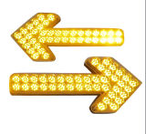 Сигнальная лампа трафика по солнечной энергии с светодиод мигает красным и синим цветом