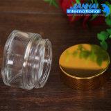 Bottiglia di vetro crema cosmetica di vetro rotonda di lusso di alta qualità