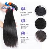 Естественный черный Silk прямо уток 100% человеческих волос Brazalian