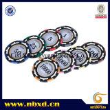 14G 3-Tone Lehm-Aufkleber-Schürhaken-Chip mit passen Aufkleber an (SY-E18)