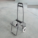 Six Wheels Foldable Climbing Shopping Trolley Bag with Stool