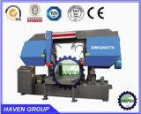 水平のタイプ油圧バンド鋸引き機械