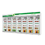 Супермаркет напитков вертикальный дисплей холодильник охладителя