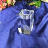Квадратные ясные кристаллический держатель для свечи & подсвечник для домашнего украшения
