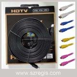Grande cabo coaxial colorido dos dados Gold-Plated lisos HDMI da visualização óptica