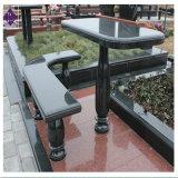 Estilo popular de granito negro Shanxi Banco para jardín al aire libre