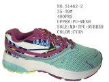 Deux chaussures sportives de taille de femmes de couleurs