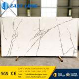 Dalles de pierre de quartz de marbre artificiel pour cuisine/salle de bains/Engineered /Hotel Design