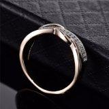 MEDIO Ring van de gouden-Kleur van het Kristal van CZ van de Manier van de valentijnskaart de Huidige Spiraalvormige