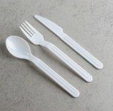 Schwergewichts- Wegwerfplastiktischbesteck-Satz, Messer, Gabel und Löffel