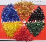 Die Landschaftsgestaltung des Glases bricht orange Kürbis-Glasspiegel-Schrotte ab