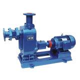Individu amorçant la pompe à eau centrifuge