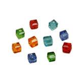 Facetteerde de Vierkante Vorm van de kubus de Mooie Losse Parels van het Glas van het Kristal voor het Maken van Juwelen