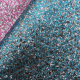 Seda sintética couro impresso do falso do plutônio do Glitter para a sapata do saco