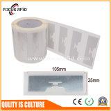 Бирка UHF бумажная RFID горячего сбывания для контроля допуска