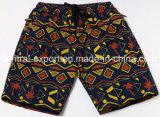 Vêtements de bain de circuit de panneau d'hommes modelés plein par polyester de taille d'Oeko-Tex