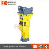 Larga duración caja usada tipo martillo rompedor hidráulico con cincel de 135 mm