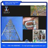 100m Guyed entramado de la antena de la torre de comunicaciones móviles