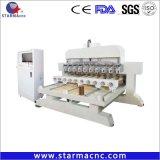 Machine de conception nouvelle porte en bois 4 axes CNC routeur professionnel travail rotatif