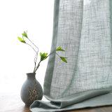 居間の台所テュル日本の窓カーテンのための固体リネンカーテン