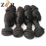 標準的なブラジルのバージンのRemyの巻き毛の人間の毛髪のよこ糸Dyeable
