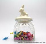 Опарник хранения еды горячего надувательства стеклянный/стеклянный опарник конфеты с керамической крышкой для Kitchenware