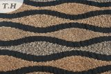 Tissu de sofa de jacquard de Chenille de café pour l'Afrique la plupart du temps