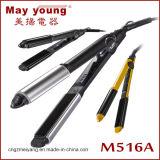 La enderezadora del pelo con endereza y encrespa 2 en 1 diseño