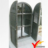 Window Shutter Design Esculpido Antique Wooden Mirror Frame
