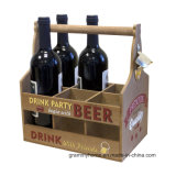 Retro Bier-Knall-Küche-Stab-Flaschen-Öffner-hölzerner Halter-Träger-Rahmen