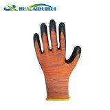 Jauge 13 doublure en polyester/nylon latex enduits ondulée des gants de sécurité